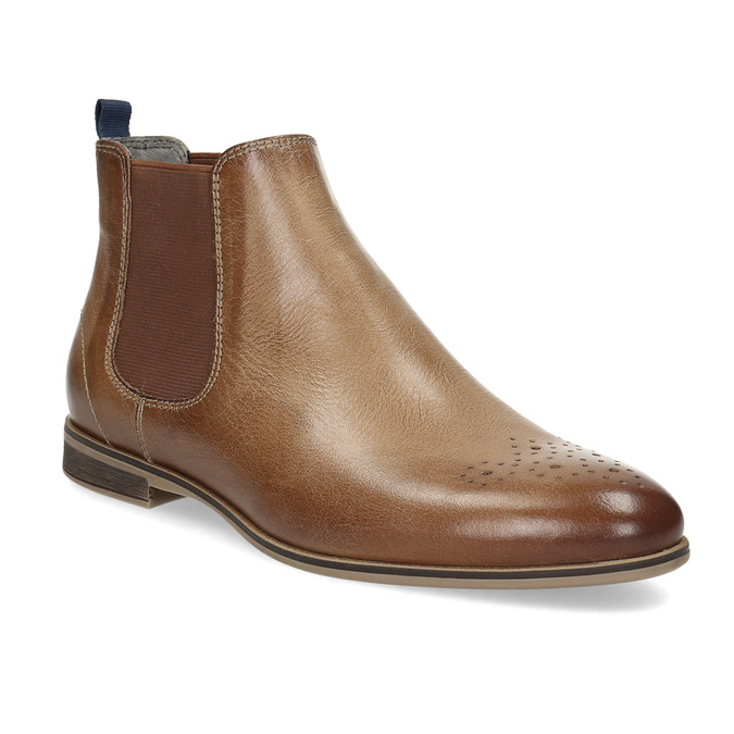 Ladies' Chelsea style leather ankle boots bata, brown , 596-3684 - 13
