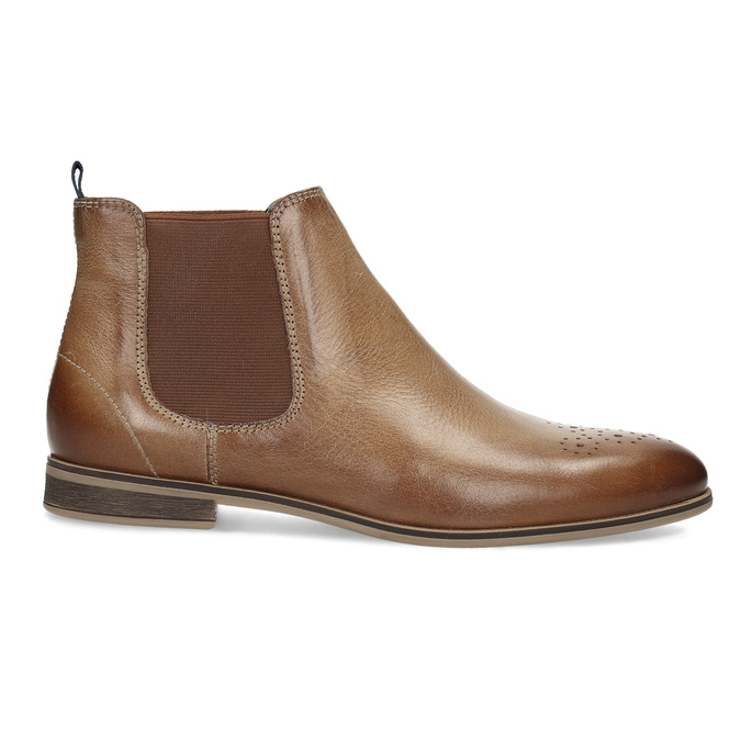 Ladies' Chelsea style leather ankle boots bata, brown , 596-3684 - 19