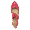 Pink leather pumps insolia, red , 624-5643 - 15