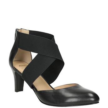 Ladies' leather pumps insolia, black , 624-6643 - 13